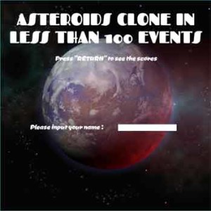 Imagen Asteroid in less than 100 events