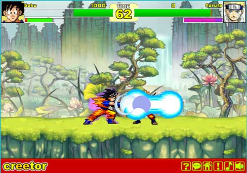 Imagen Creetor Animation Fighting: Luffy VS Naruto