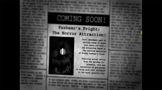 Imagen Five Nights at Freddy's 3