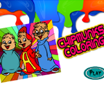 CHIPMUNKS COLORING