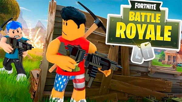 "Juega GRATIS a FORTNITE BATTLE ROYALE ROBLOX"" class="