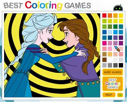 Imagen Elsa and Anna Frozen Coloring